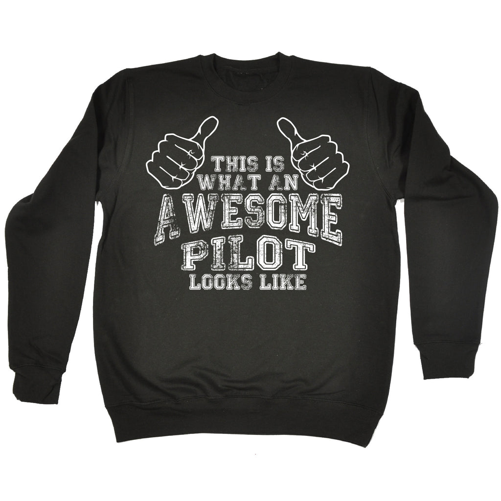123t This Is What An Awesome Pilot Looks Like Funny Sweatshirt