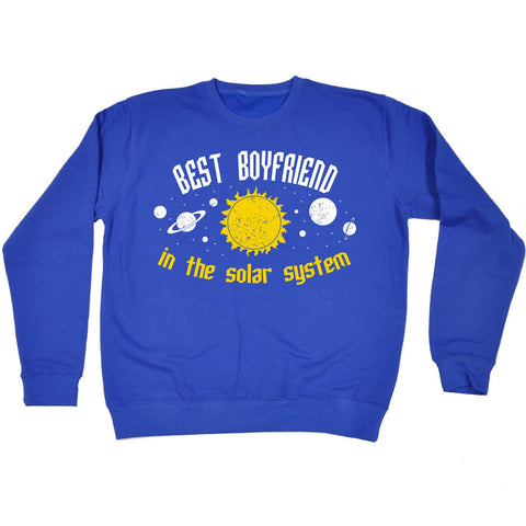 123t Best Boyfriend In The Solar System Galaxy Design Funny Sweatshirt