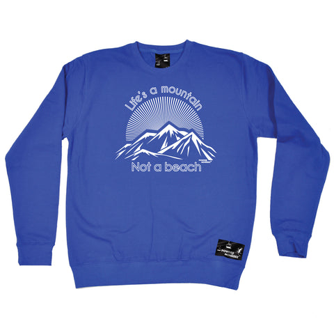 Powder Monkeez Life's A Mountain Not A Beach Skiing Snowboarding Sweatshirt