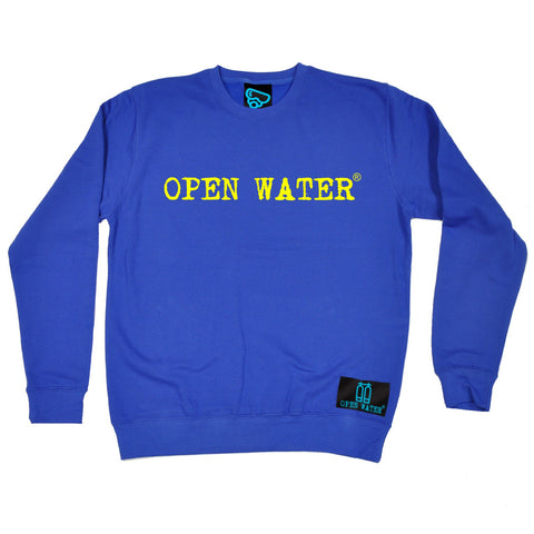 Open Water Yellow Text Design Scuba Diving Sweatshirt