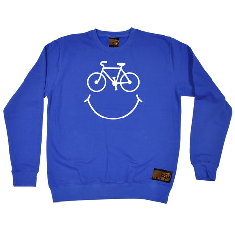 Ride Like The Wind Bicycle Smile Cycling Sweatshirt