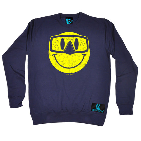 Open Water Smiley Goggles Design Scuba Diving Sweatshirt