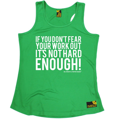 SWPS If You Don't Fear Your Work Out Sex Weights And Protein Shakes Gym Girlie Training Vest