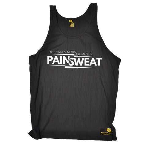 SWPS Accomplishments Are Made In Pain Sex Weights And Protein Gym Shakes Vest Top