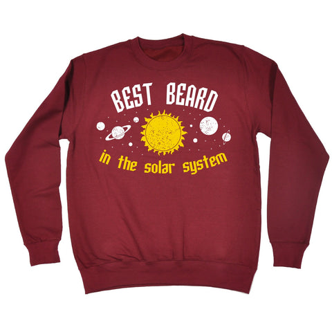 123t Best Beard In The Solar System Galaxy Design Funny Sweatshirt