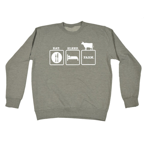 123t Eat Sleep Farm Funny Sweatshirt, 123t