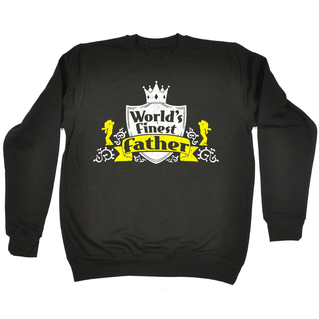 123t World's Finest Father Funny Sweatshirt