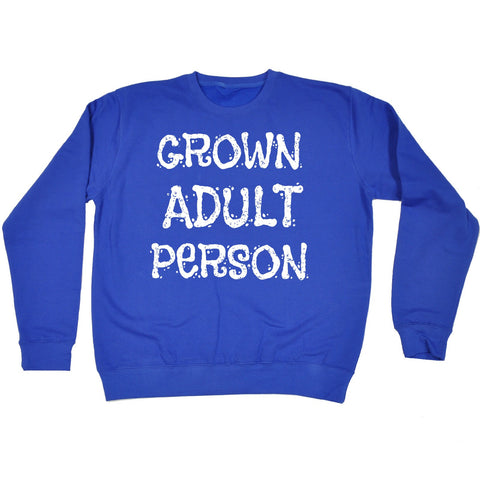 123t Grown Adult Person Funny Sweatshirt
