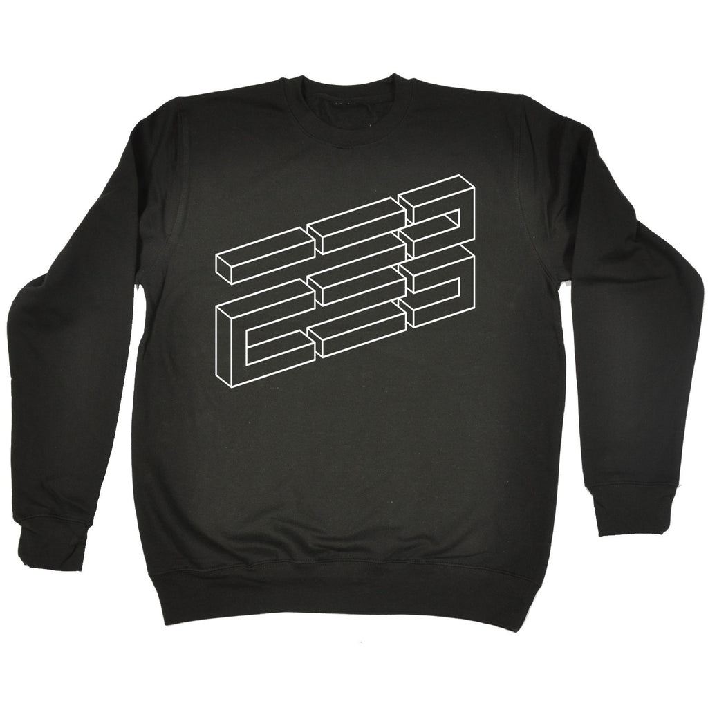 123t Brick Illusion Funny Sweatshirt