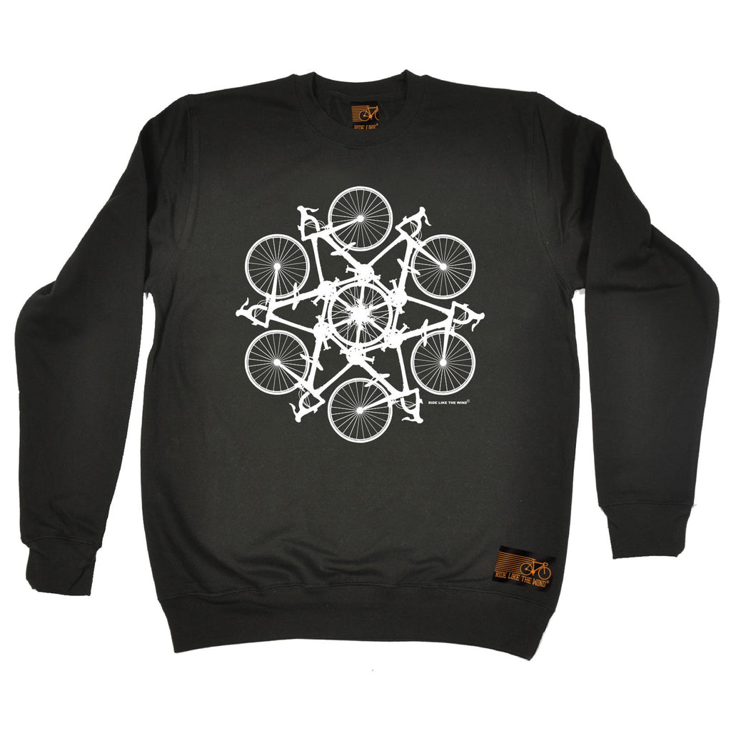 Ride Like The Wind Kaleidospoke Cycling Sweatshirt