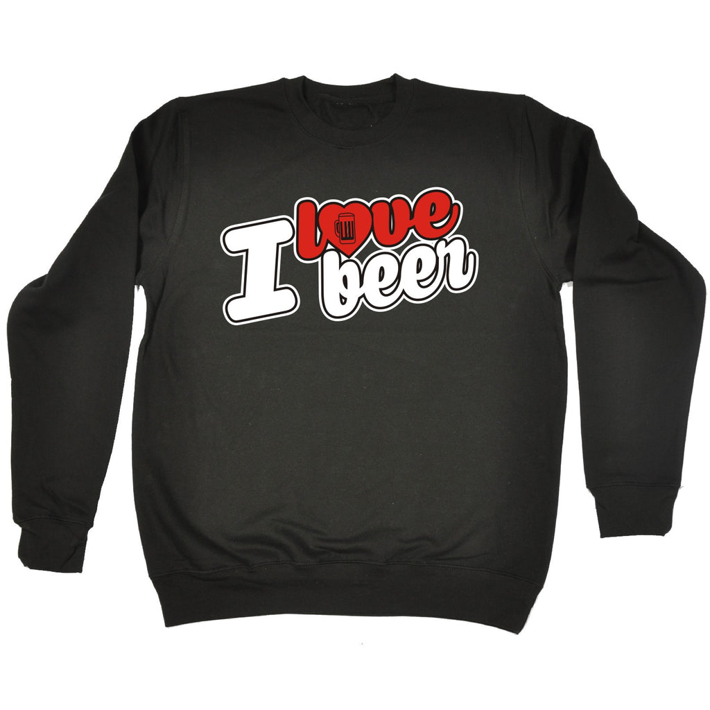 123t I Love Beer Stein Heart Design Funny Sweatshirt
