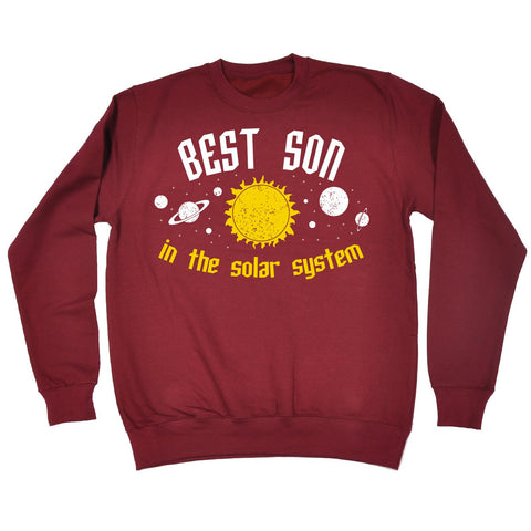 123t Best Son In The Solar System Galaxy Design Funny Sweatshirt