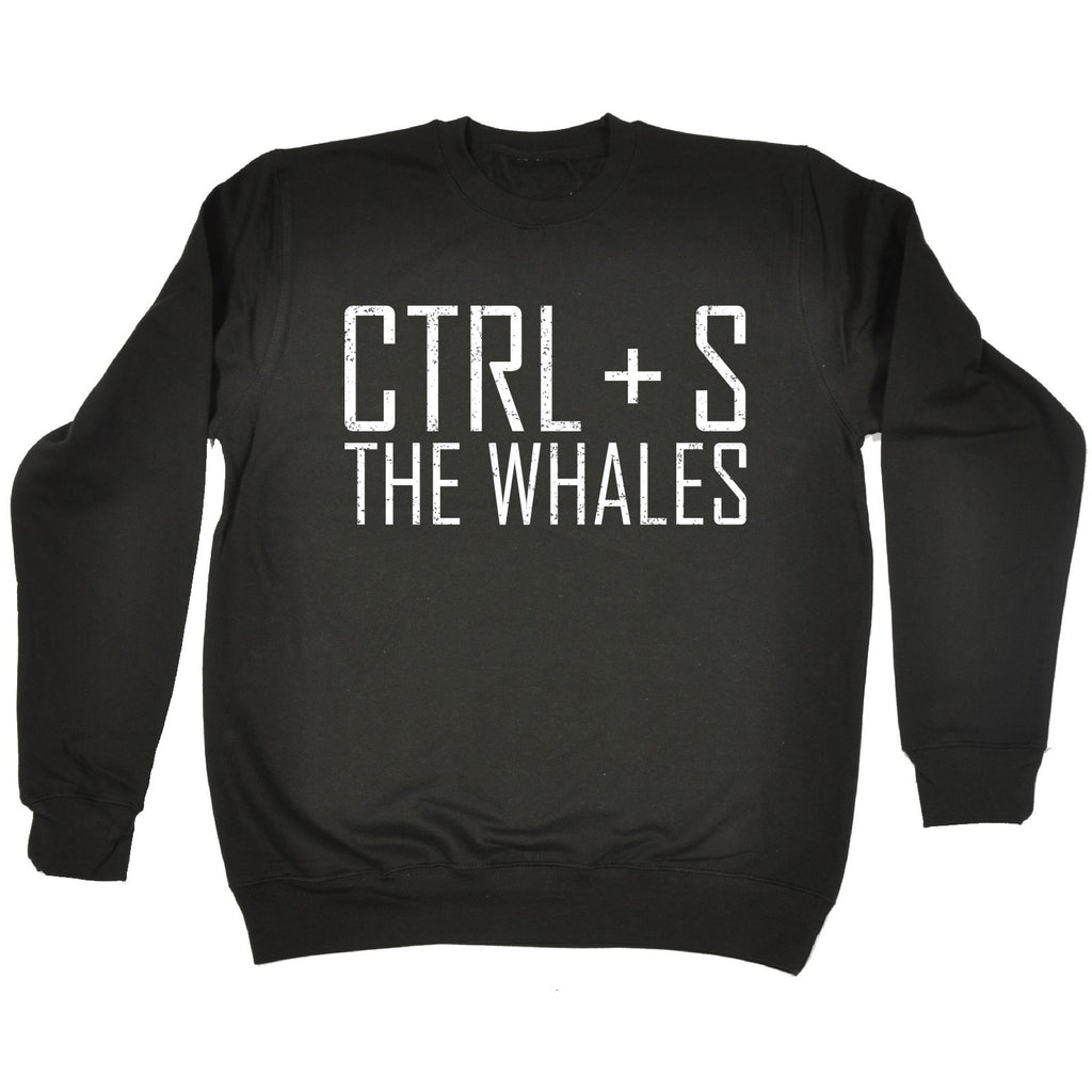 123t CTRL + S The Whales Funny Sweatshirt - 123t clothing gifts presents