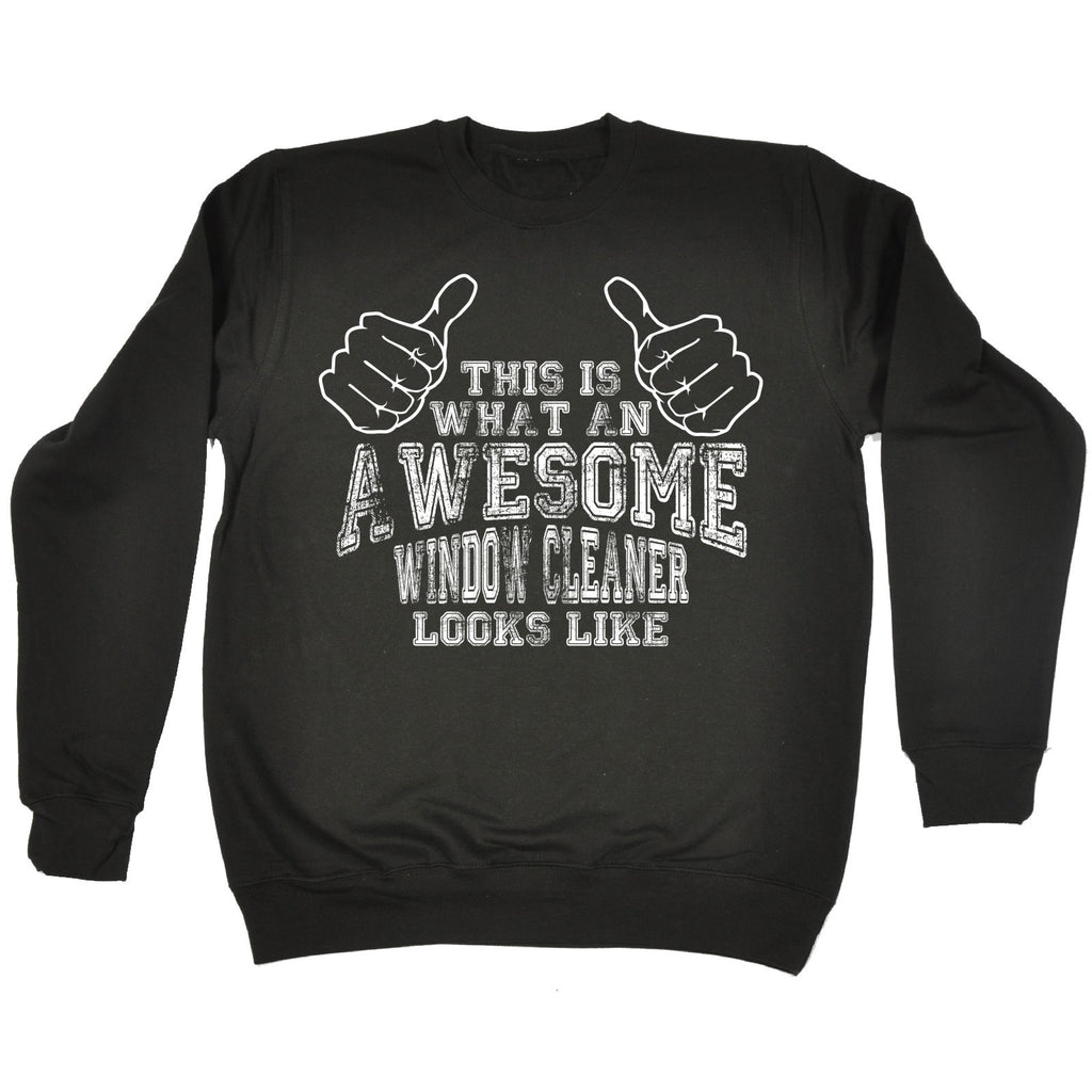 123t This Is What An Awesome Window Cleaner Looks Like Funny Sweatshirt