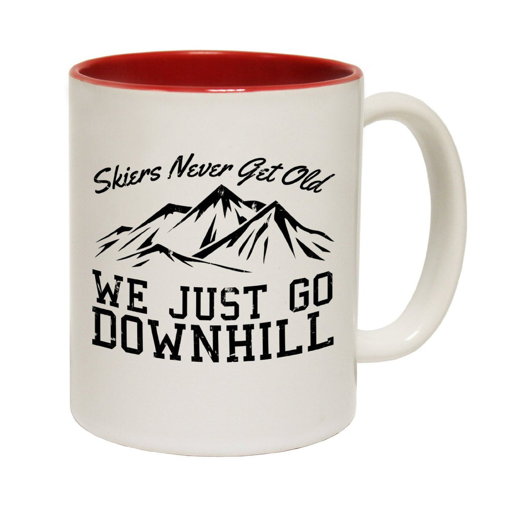 Powder Monkeez Skiers Never Get Old ... Downhill Funny Skiing Mug