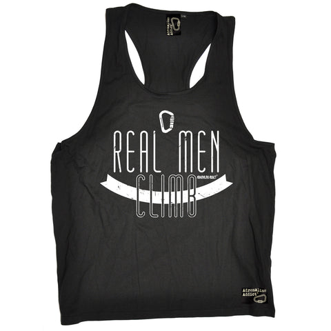 Adrenaline Addict Real Men Climb Rock Climbing Men's Tank Top