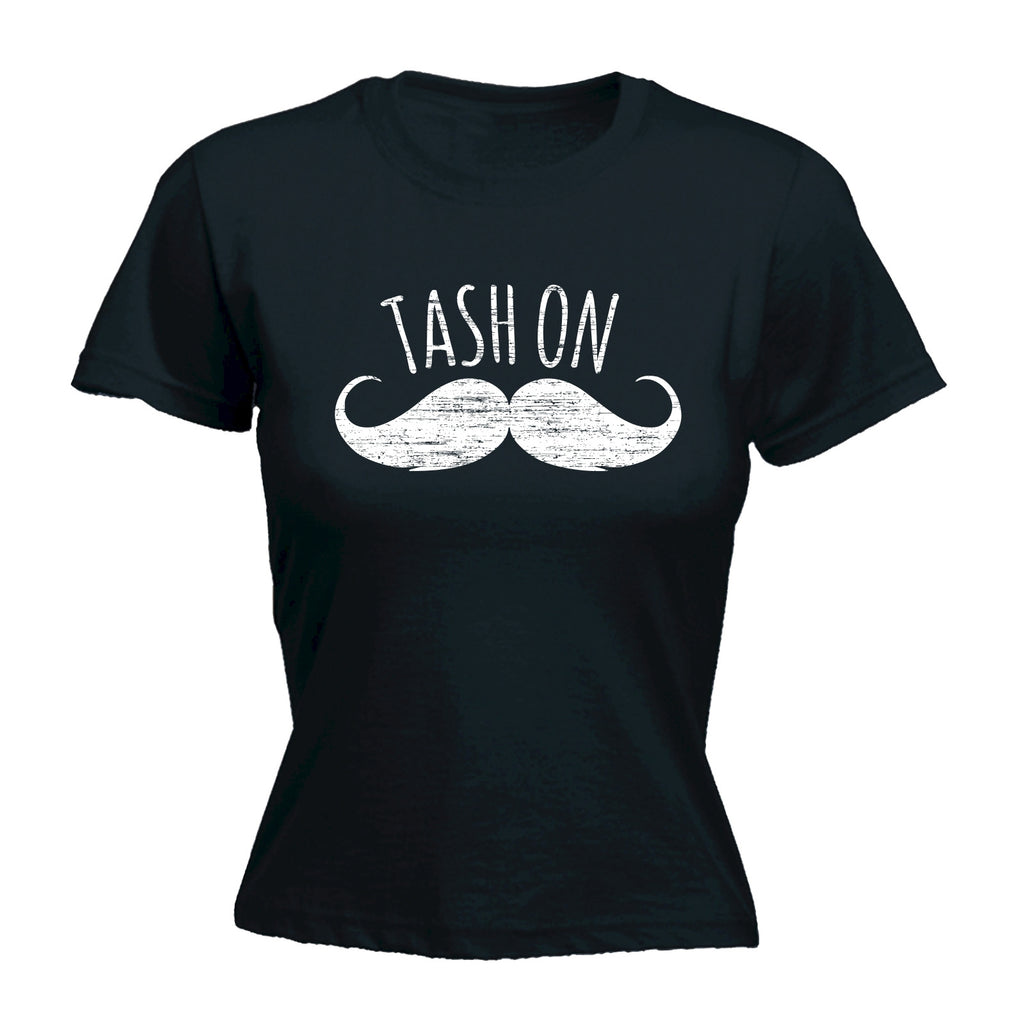 123t Women's Tash On Moustache Design Funny T-Shirt