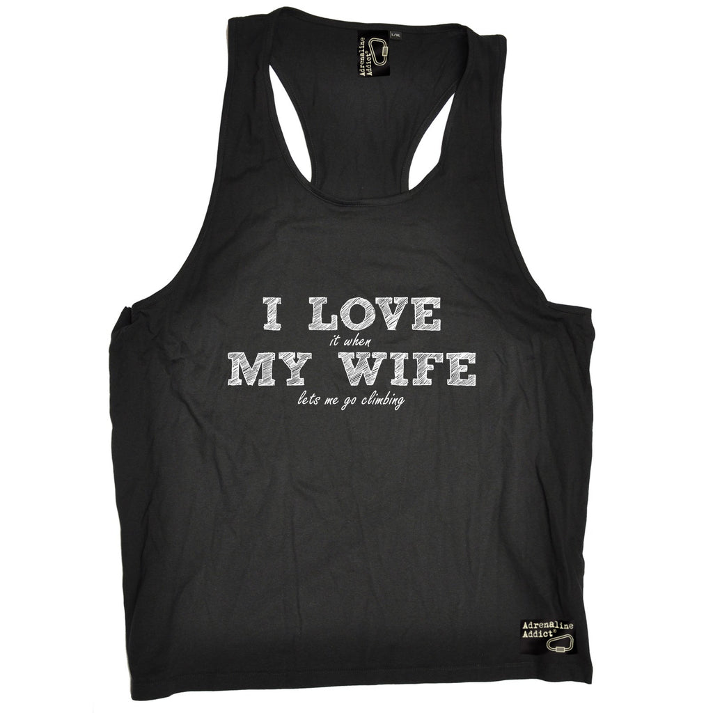 Adrenaline Addict I Love It When My Wife Lets Me Go Rock Climbing Men's Tank Top