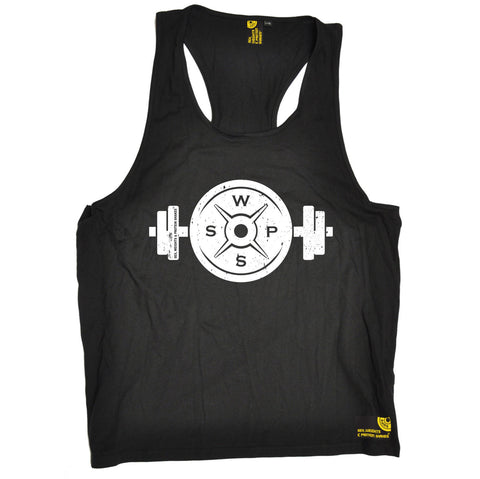 SWPS Weight Dumbbell Design Sex Weights And Protein Shakes Gym Men's Tank Top