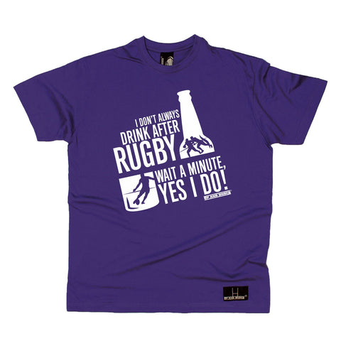 Up and Under Mens - Always Drink Beer After Rugby - Rugby T-SHIRT