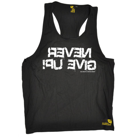 Sex Weights and Protein Shakes Never Give Up Sex Weights And Protein Shakes Gym Men's Tank Top