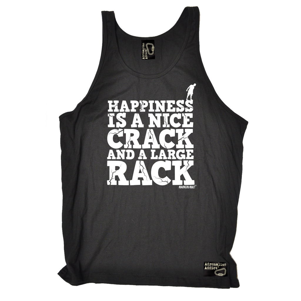 Adrenaline Addict Happiness Is A Nice Crack And A Large Rack Rock Climbing Vest Top