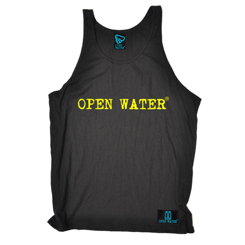 Open Water Yellow Text Design Scuba Diving Vest Top