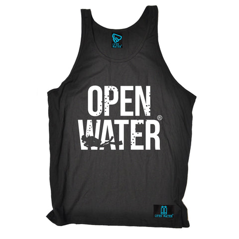 Open Water Diver Bold Text Design Scuba Diving Vest Top