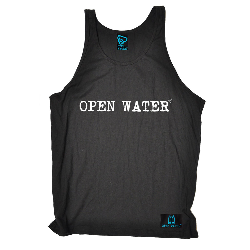 Open Water White Text Design Scuba Diving Vest Top
