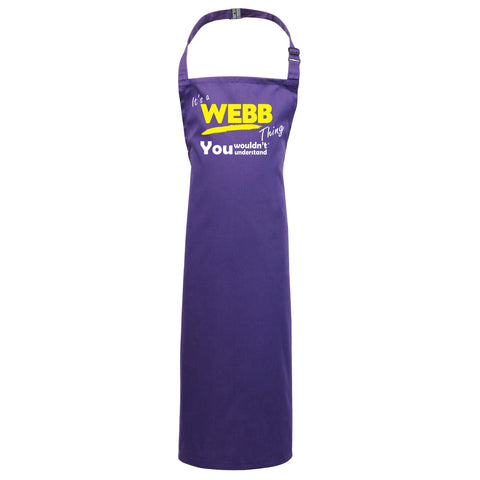 123t Kids It's A Webb Thing You Wouldn't Understand Cooking Playtime Apron