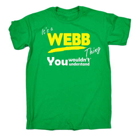 123t Kids It's A Webb Thing You Wouldn't Understand Funny T-Shirt Ages 3-13