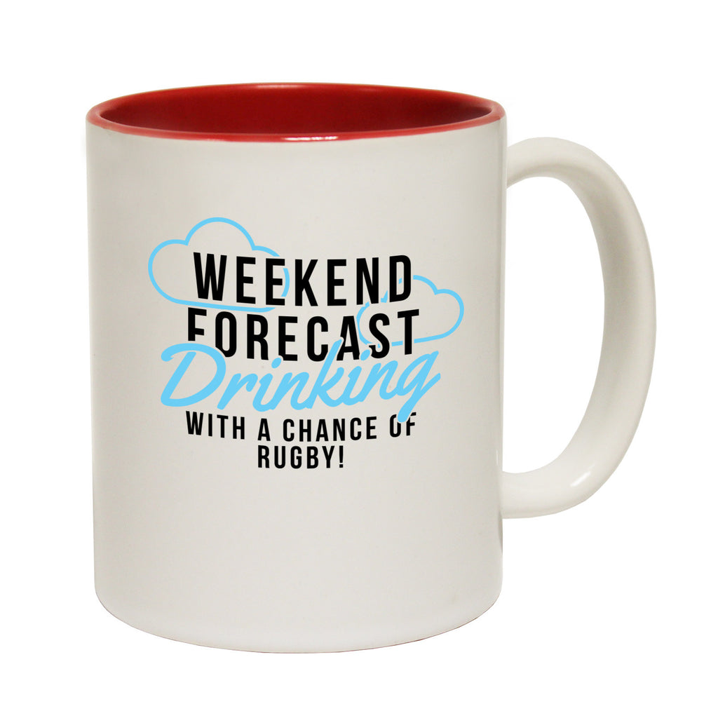 Up And Under Weekend Forecast ... Rugby Funny Mug
