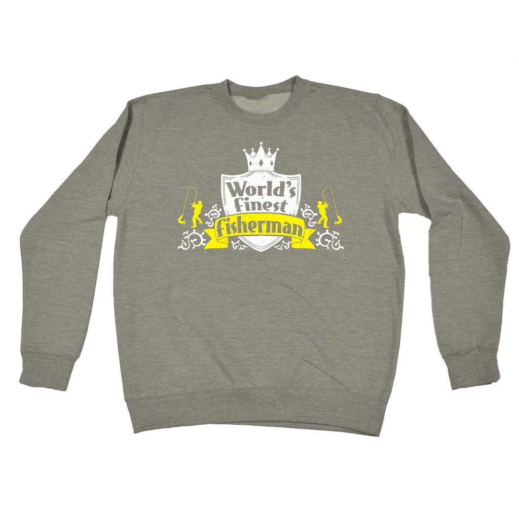 123t World's Finest Fisherman Funny Sweatshirt