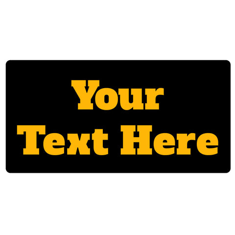 123t Your Text Personalised Funny Custom Bar Runner
