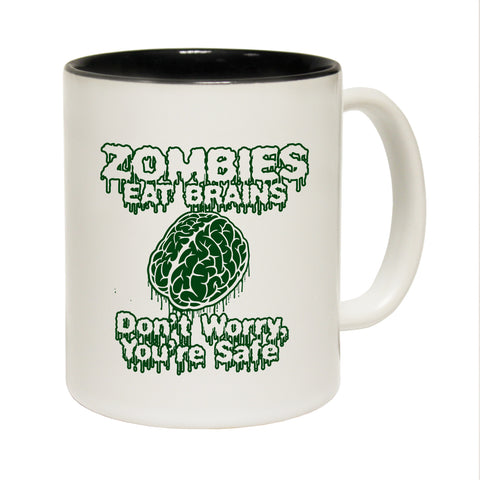 123T Funny Mugs - Zombies Brains - Coffee Cup