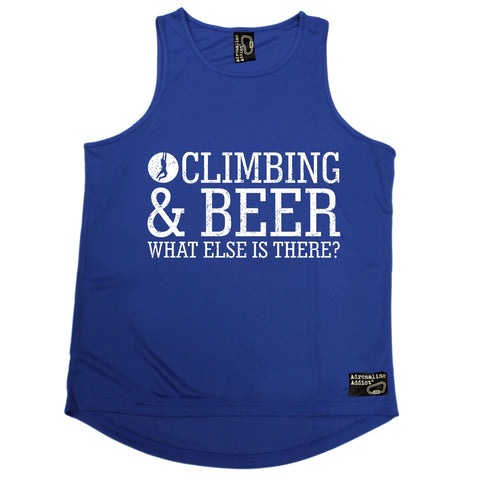 Adrenaline Addict Rock Climbing & Beer What Else Is There ? Men's Training Vest