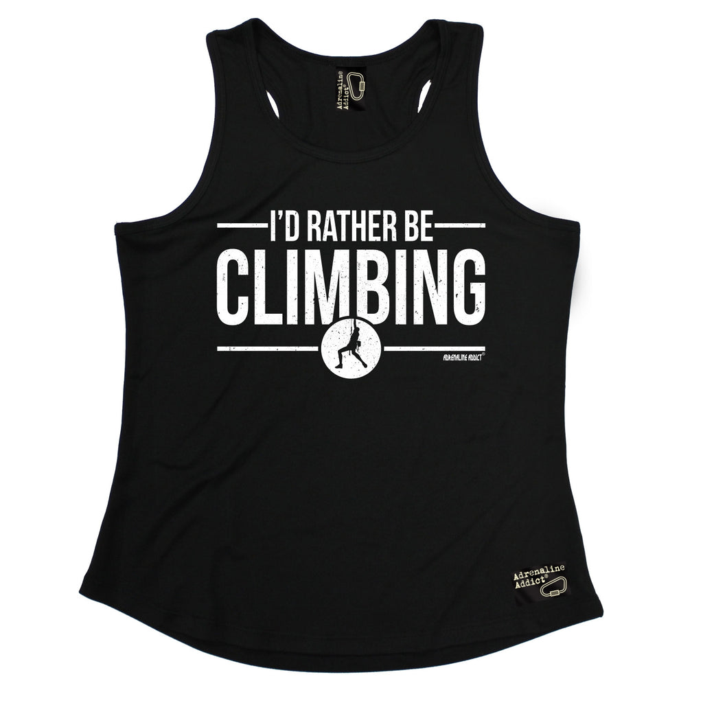 Adrenaline Addict I'd Rather Be Rock Climbing Girlie Training Vest