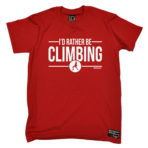 Adrenaline Addict Men's I'd Rather Be Rock Climbing T-Shirt