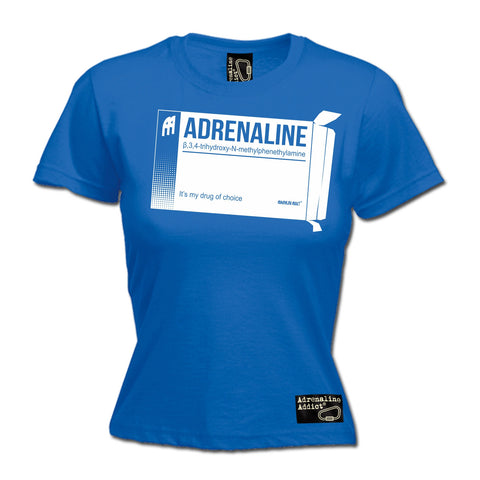 Adrenaline Addict Women's Adrenaline It's My Drug Of Choice Rock Climbing T-Shirt
