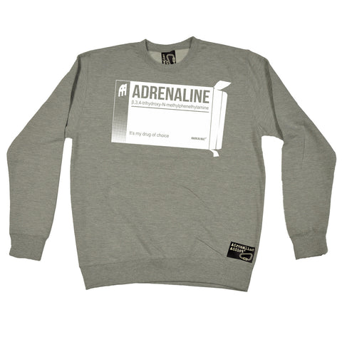 Adrenaline Addict Adrenaline It's My Drug Of Choice Rock Climbing Sweatshirt