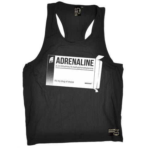 Adrenaline Addict Adrenaline It's My Drug Of Choice Rock Climbing Men's Tank Top
