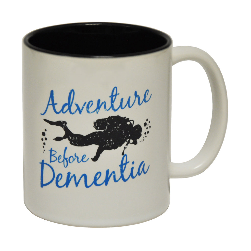 Open Water Adventure Before Dementia Funny Scuba Diving Mug