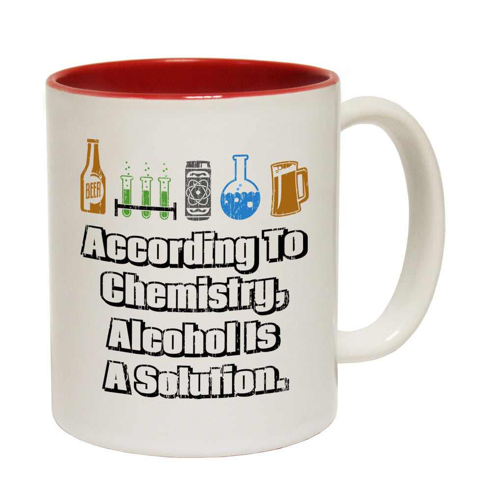 123t According To Chemistry Alcohol Is A Solution Funny Mug - 123t clothing gifts presents