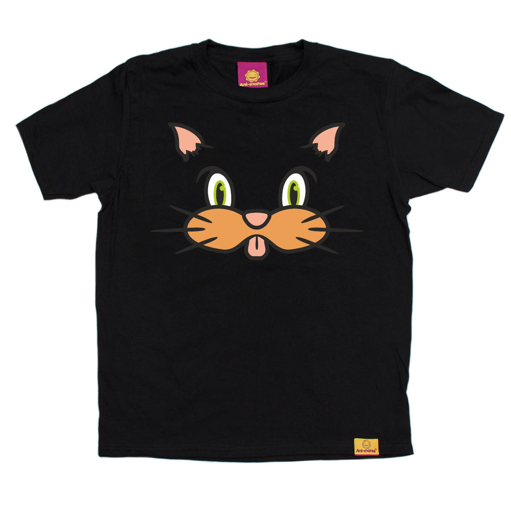 Ani-Mates Cat Animals Kids T-Shirt - Fun Children Clothes Tees Boys Girls Tops