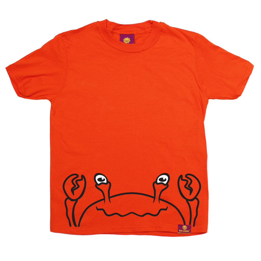 Ani-Mates Crab Animals Kids T-Shirt - Fun Children Clothes Tees Boys Girls Tops