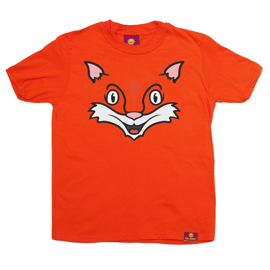 Ani-Mates Fox Animals Kids T-Shirt - Fun Children Clothes Tees Boys Girls Tops