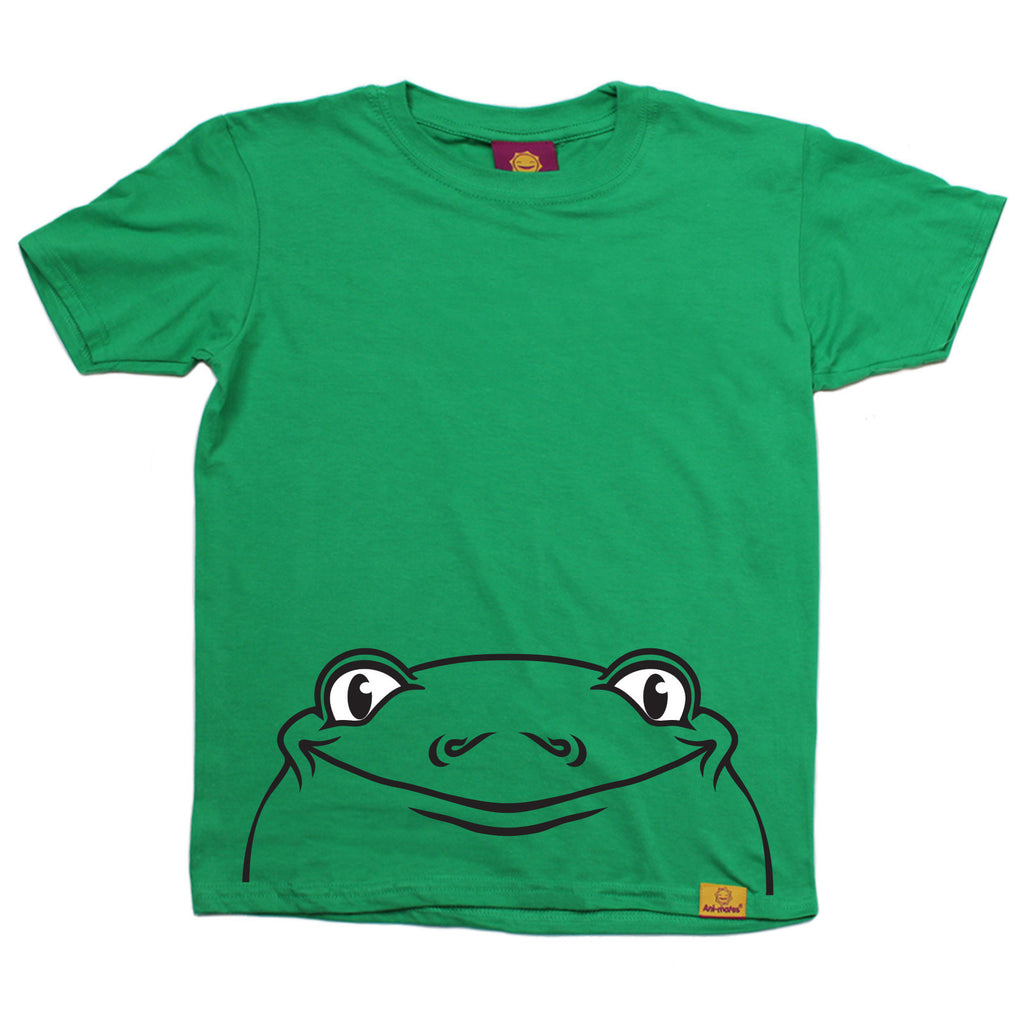 Ani-Mates Frog Animals Kids T-Shirt - Fun Children Clothes Tees Boys Girls Tops
