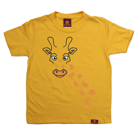 Ani-Mates Giraffe Animals Kids T-Shirt - Fun Clothes Tees Boys Girls Tops