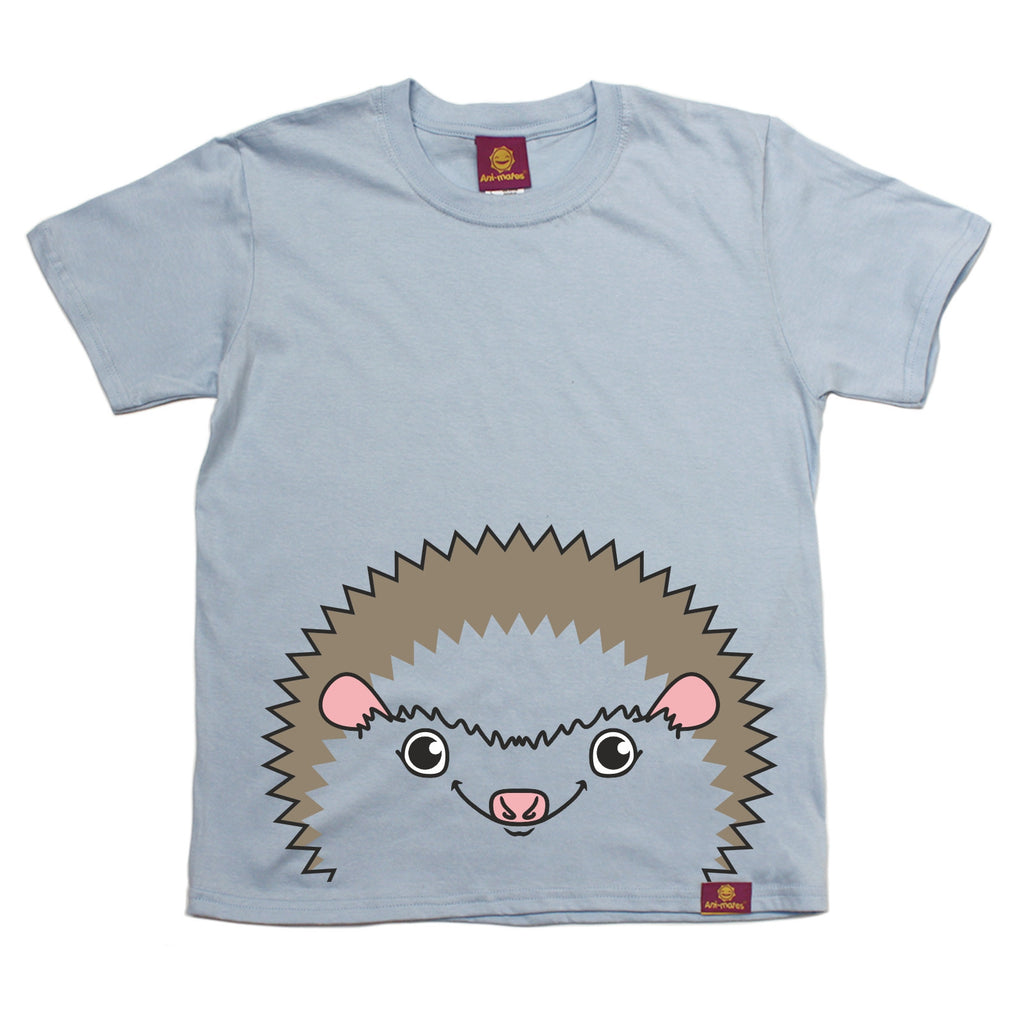 Ani-Mates Kids Hedgehog Animals T-Shirt