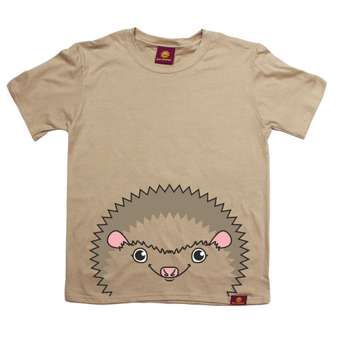 Ani-Mates Hedgehog Animals Kids T-Shirt - Fun Clothes Tees Boys Girls Tops